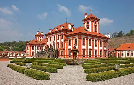 Průhonické zahrady, zámek Troja, botanické zahrady v Troji